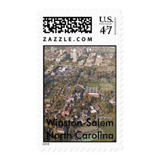 Winston-Salem North Carolina  aerial Stamp