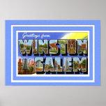Winston Salem North Carolina Large Letter Greeting Print