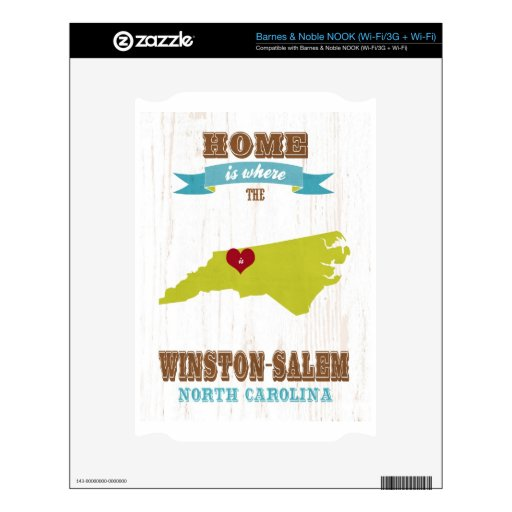 Winston Salem, North Carolina Map – Home Is Where Decals For The NOOK