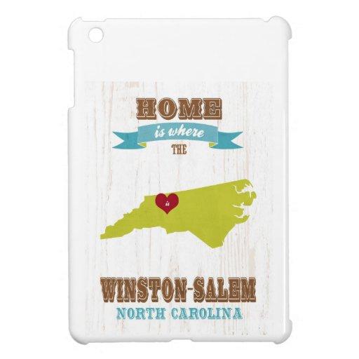 Winston Salem, North Carolina Map – Home Is Where iPad Mini Cover
