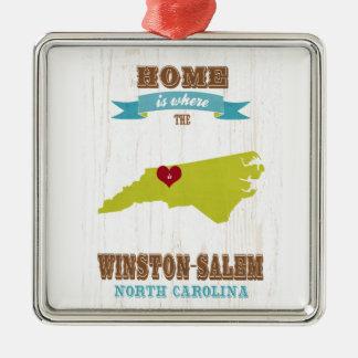 Winston Salem North Carolina Map – Home Is Where Ornaments