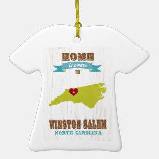 Winston Salem North Carolina Map – Home Is Where Christmas Tree Ornaments