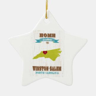 Winston Salem North Carolina Map – Home Is Where Ornament