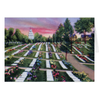 Winston Salem North Carolina Moravian Cemetery Greeting Card