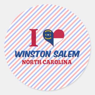 Winston Salem, North Carolina Round Stickers