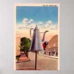 Winston Salem North Carolina The Big Coffee Pot Posters