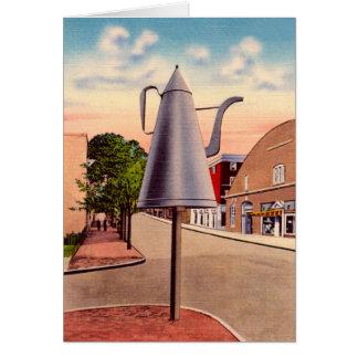 Winston-Salem North CarolinaThe Big Coffee Pot Greeting Card