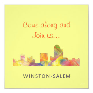 WINSTON - SALEM, NTH CAROLINA SKYLINE - CARD