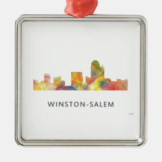 WINSTON - SALEM, NTH CAROLINA SKYLINE - METAL ORNAMENT