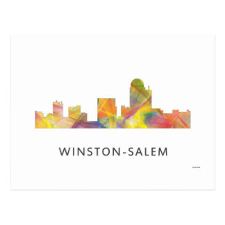 WINSTON - SALEM, NTH CAROLINA SKYLINE - POSTCARD