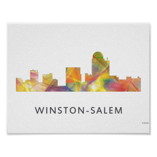 WINSTON - SALEM, NTH CAROLINA SKYLINE - POSTER