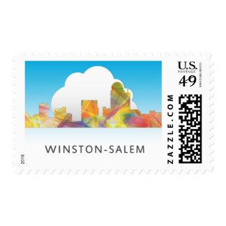 WINSTON - SALEM, NTH CAROLINA SKYLINE - STAMP