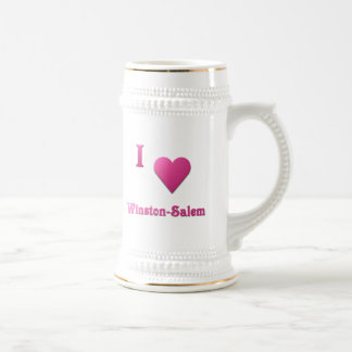 Winston-Salem -- Rosas fuertes Jarra De Cerveza
