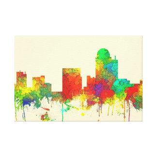 WINSTON-SALEM SKYLINE SG - Stretched Canvas Print