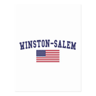 Winston-Salem US Flag Postcard