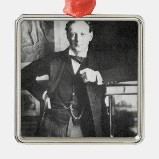 Winston Spencer Churchill in 1904 Square Metal Christmas Ornament