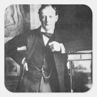 Winston Spencer Churchill in 1904 Square Sticker