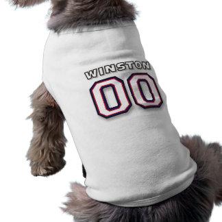 Winston - Sports Jersey 00 - Dog T-Shirt