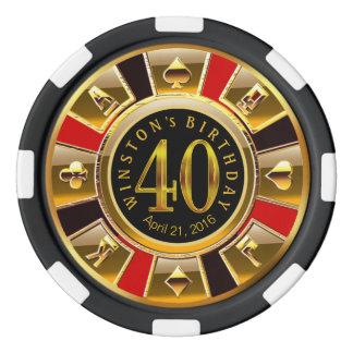 Winston Vegas Casino Chip Red & Black Poker Chips