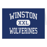 Winston Wolverines Middle Baltimore Maryland Greeting Cards
