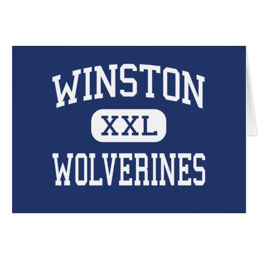 Winston Wolverines Middle Baltimore Maryland Greeting Card