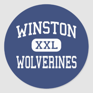 Winston Wolverines Middle Baltimore Maryland Classic Round Sticker