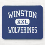 Winston Wolverines Middle Baltimore Maryland Mouse Pad