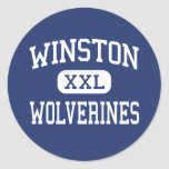 Winston Wolverines Middle Baltimore Maryland Sticker
