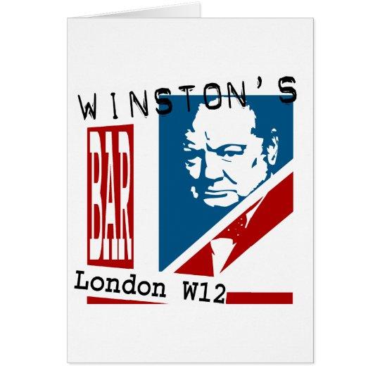 Winston's Bar Card