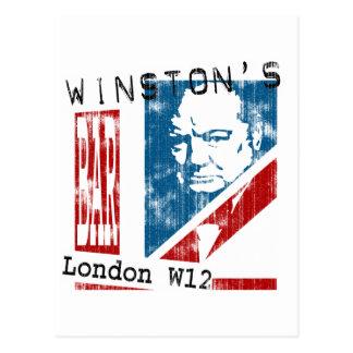 Winston's Bar, London (worn look) Post Cards