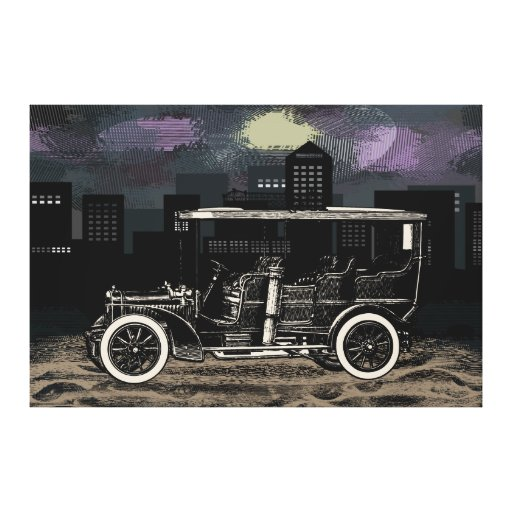 Wintage Car Wagon Canvas Stretched Canvas Prints