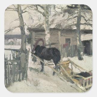Winter, 1894 square sticker