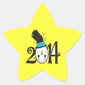 Winter 2014 star sticker