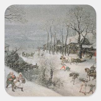 Winter 2 square sticker