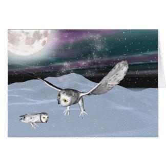 Winter 3D owl card