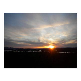 Winter Abenaki Tower Sunset Postcards