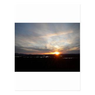Winter Abenaki Tower Sunset Postcard