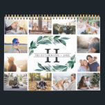 "Winter Abundance | 2019 Photo Calendar<br><div class=""desc"">Share a favorite memory on each page of this 2019 photo calendar. Cover features a thumbnail version of each photo with your family name and monogram in the center, surrounded by lush green watercolor botanical foliage. Inside, your photos appear in vibrant full bleed with the month overlaid in white handwritten...</div>"