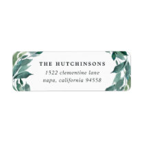 Winter Abundance Return Address Label