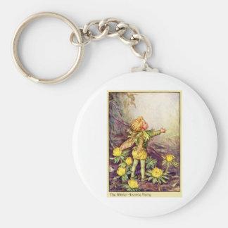 Winter Aconite Fairy Basic Round Button Keychain