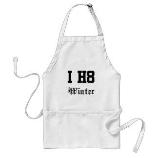winter adult apron
