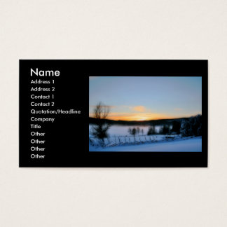 Winter Afternoon Business Card