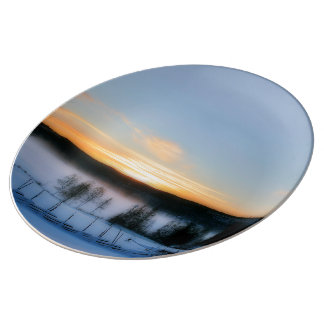 Winter Afternoon Porcelain Plate