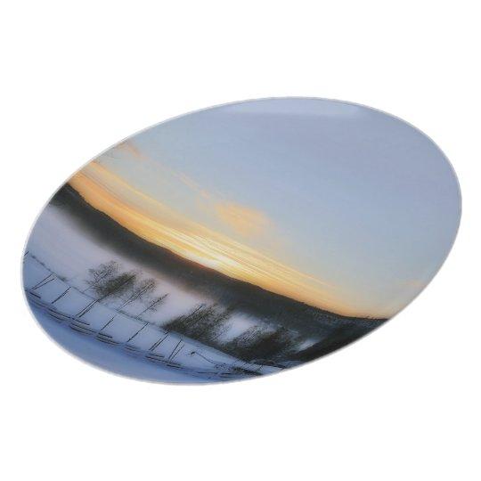Winter Afternoon Melamine Plate