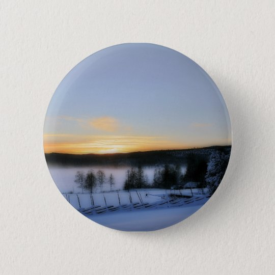 Winter Afternoon Pinback Button
