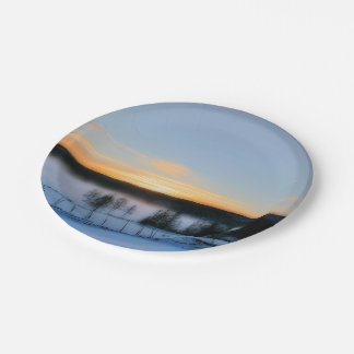 Winter Afternoon 7 Inch Paper Plate