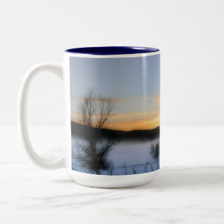 Winter Afternoon Two-Tone Coffee Mug