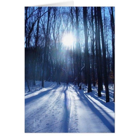 Winter Afternoon Walk Card