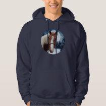 Winter American Paint Horse Hoodie
