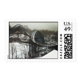 Winter Amusement Park Stamps